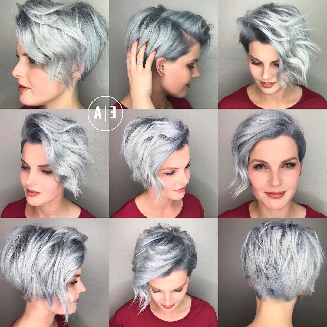 20 Cute Easy Hairstyles For Summer 2018 – Hottest Summer Hair Color For Famous Gray Blonde Pixie Hairstyles (View 2 of 20)