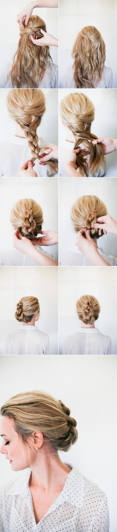 20 Gorgeous 5 Minute Hairstyles To Save You Some Snooze Time – Diy In Well Liked Romantic Twisted Hairdo Hairstyles (View 1 of 20)