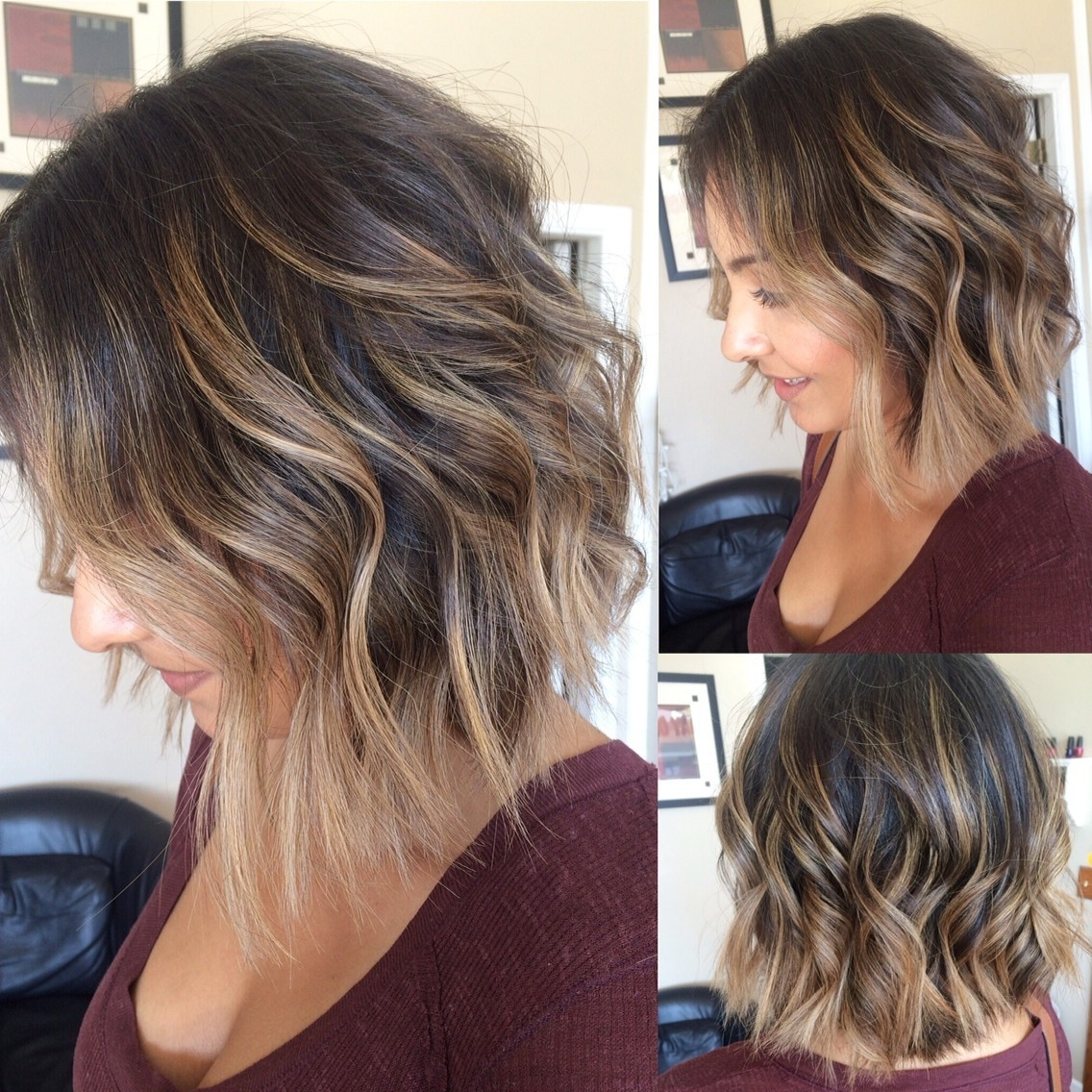 20 Lovely Medium Length Haircuts For 2017: Meidum Hair Styles For Women For Most Recently Released Feathered Pixie With Balayage Highlights (View 3 of 20)