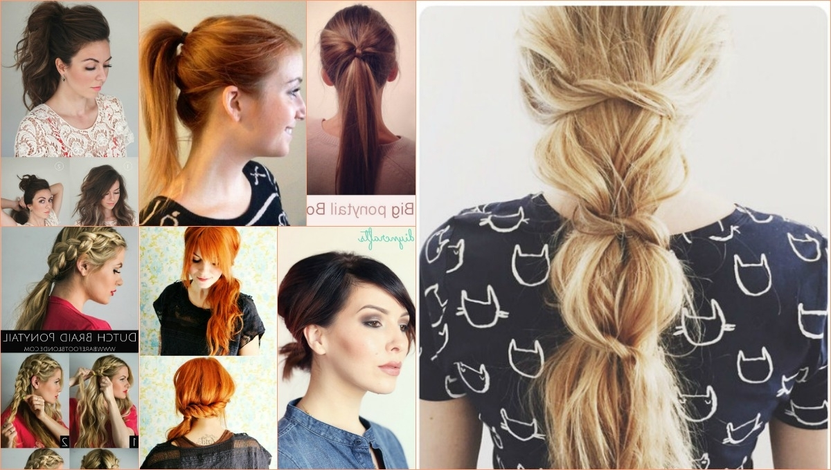 20 Perfect Ponytail Tutorials – Turning The Ordinary Into Inside Widely Used Punky Ponytail Hairstyles (View 17 of 20)