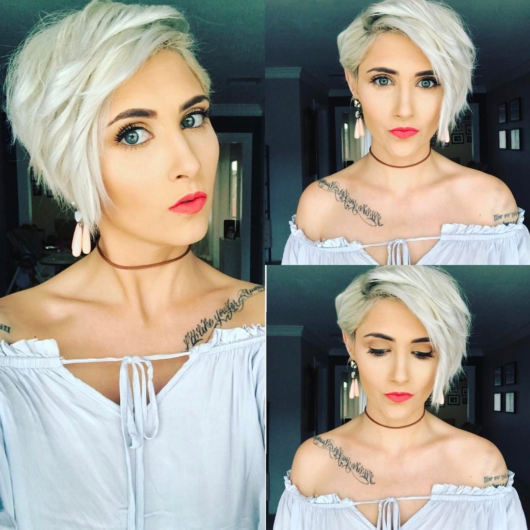 20 Trendy Hair Color Ideas For Women – 2017: Platinum Blonde Hair Ideas Within Well Known Platinum And Purple Pixie Blonde Hairstyles (View 5 of 20)
