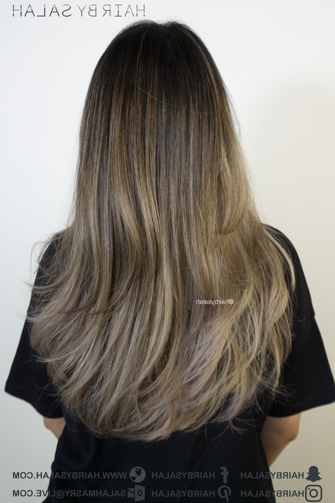 2017 Beige Balayage For Light Brown Hair Pertaining To Light Beige Blonde Hair Balayage – Hairsalah (View 1 of 20)