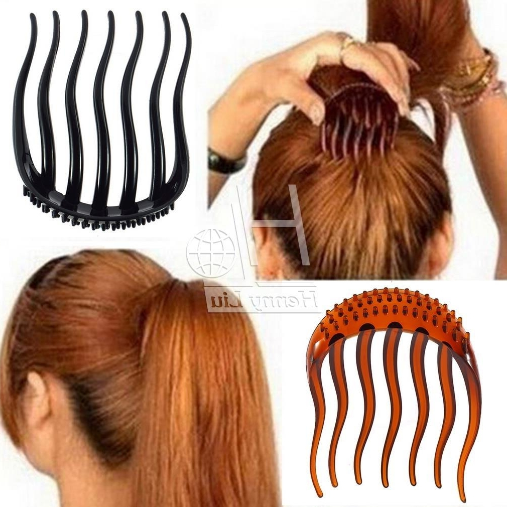 2017 Black Ponytail Hairstyles With A Bouffant Inside Wholesale Volume Inserts Hair Clip Bumpits Bouffant Ponytail Hair (View 15 of 20)