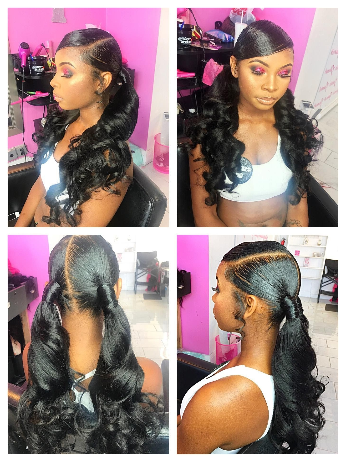2017 Black Ponytail Hairstyles With A Bouffant Intended For Pinqueen Bee???? On Hair (View 2 of 20)