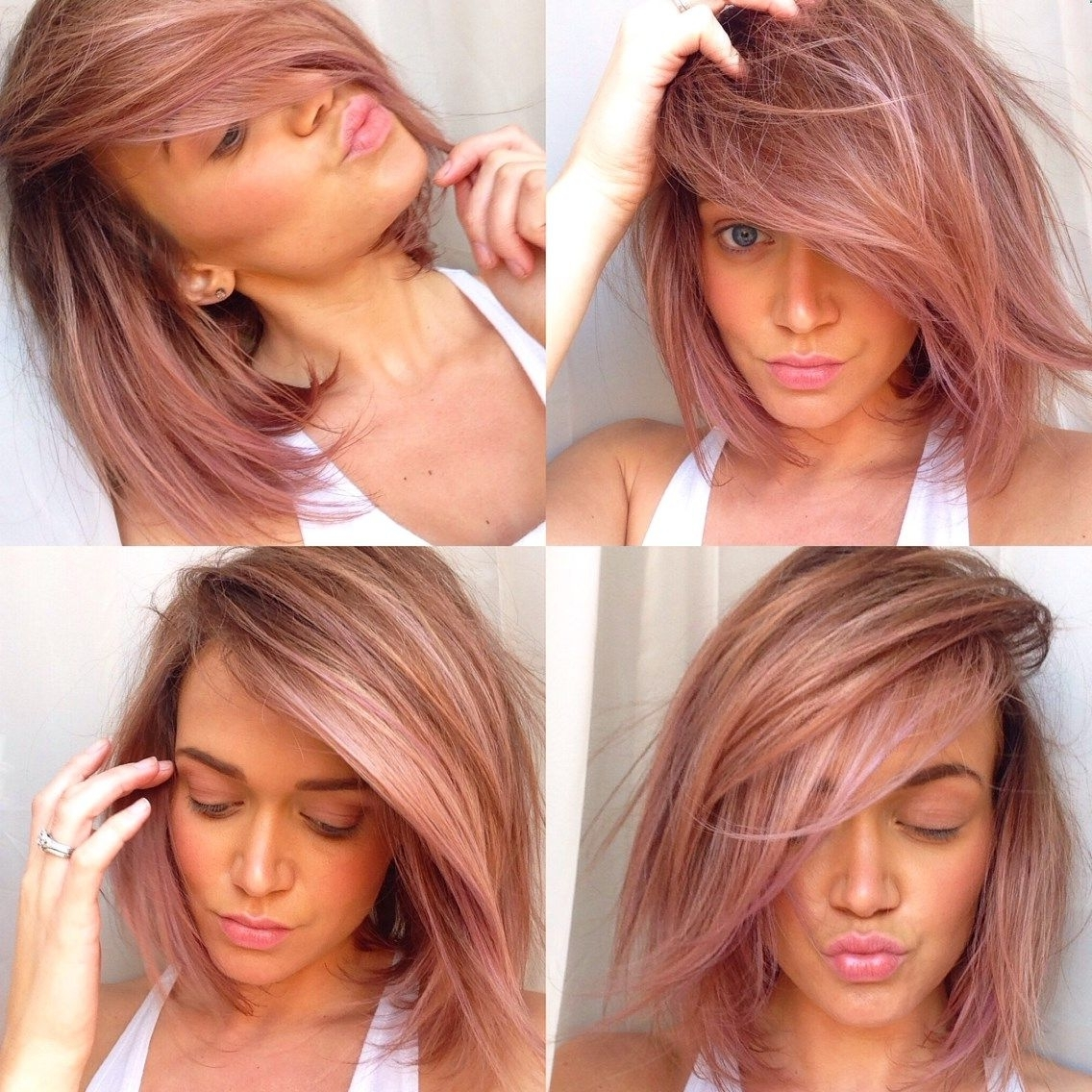 2017 Blonde Bob Hairstyles With Lavender Tint Inside Pink/lavender Tint To Dirty Blonde Hair With Balayage Highlights (View 2 of 20)