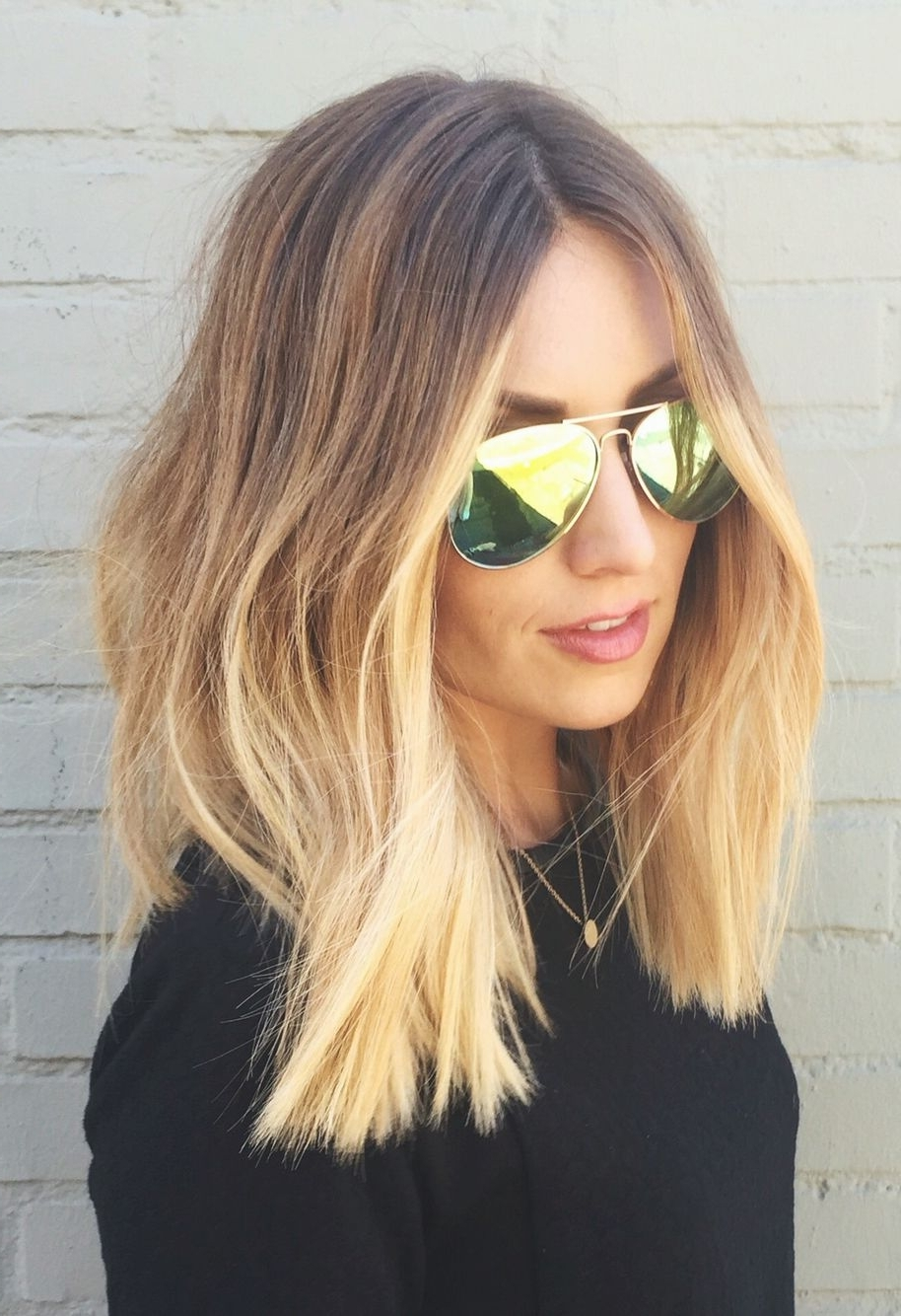 2017 Blonde Lob Hairstyles With Middle Parting Intended For Lob Haircut Looks Fantastic! Ps – What's That Blonde At The End?! I (View 1 of 20)