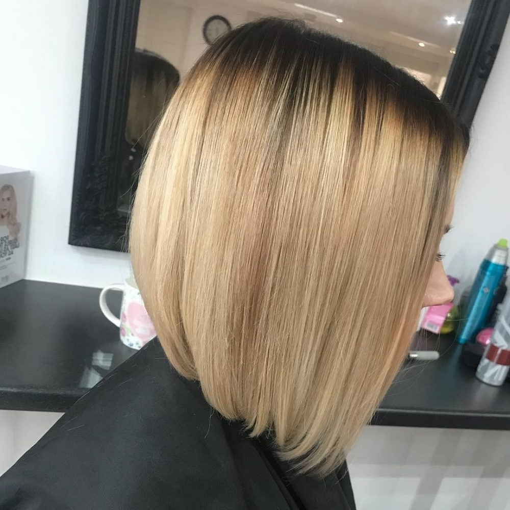 2017 Cream Colored Bob Blonde Hairstyles Intended For 36 Best Short Ombre Hair Ideas Of (View 2 of 20)