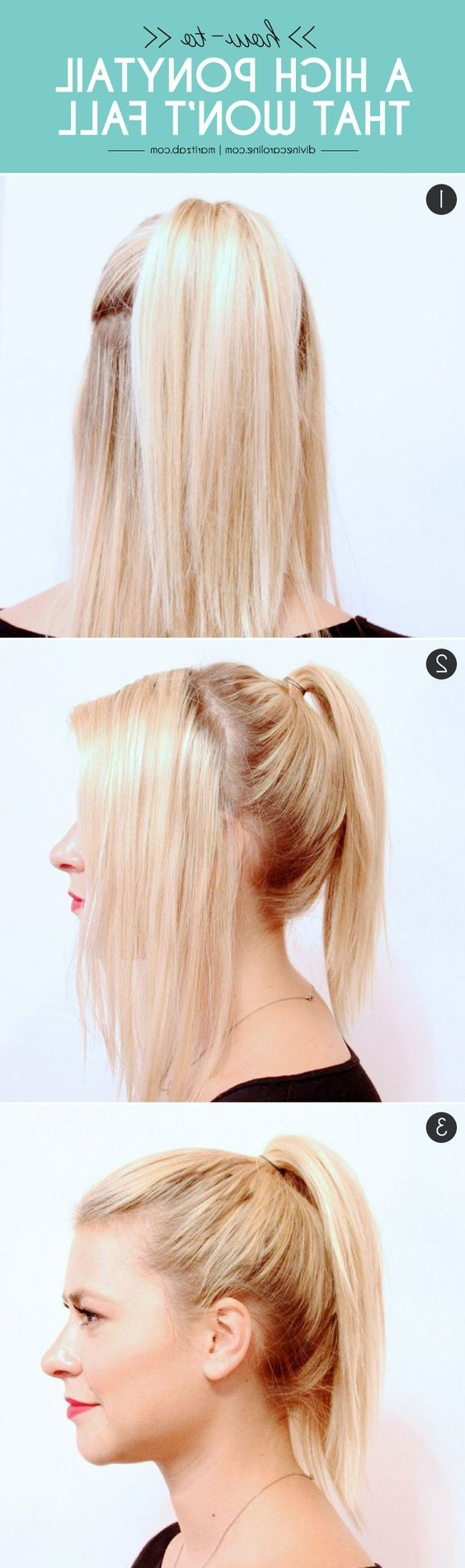 2017 High Ponytail Hairstyles With Accessory Within 18 High Ponytail Hairstyles You Need To Try For Spring 2017 – Gurl (View 5 of 20)