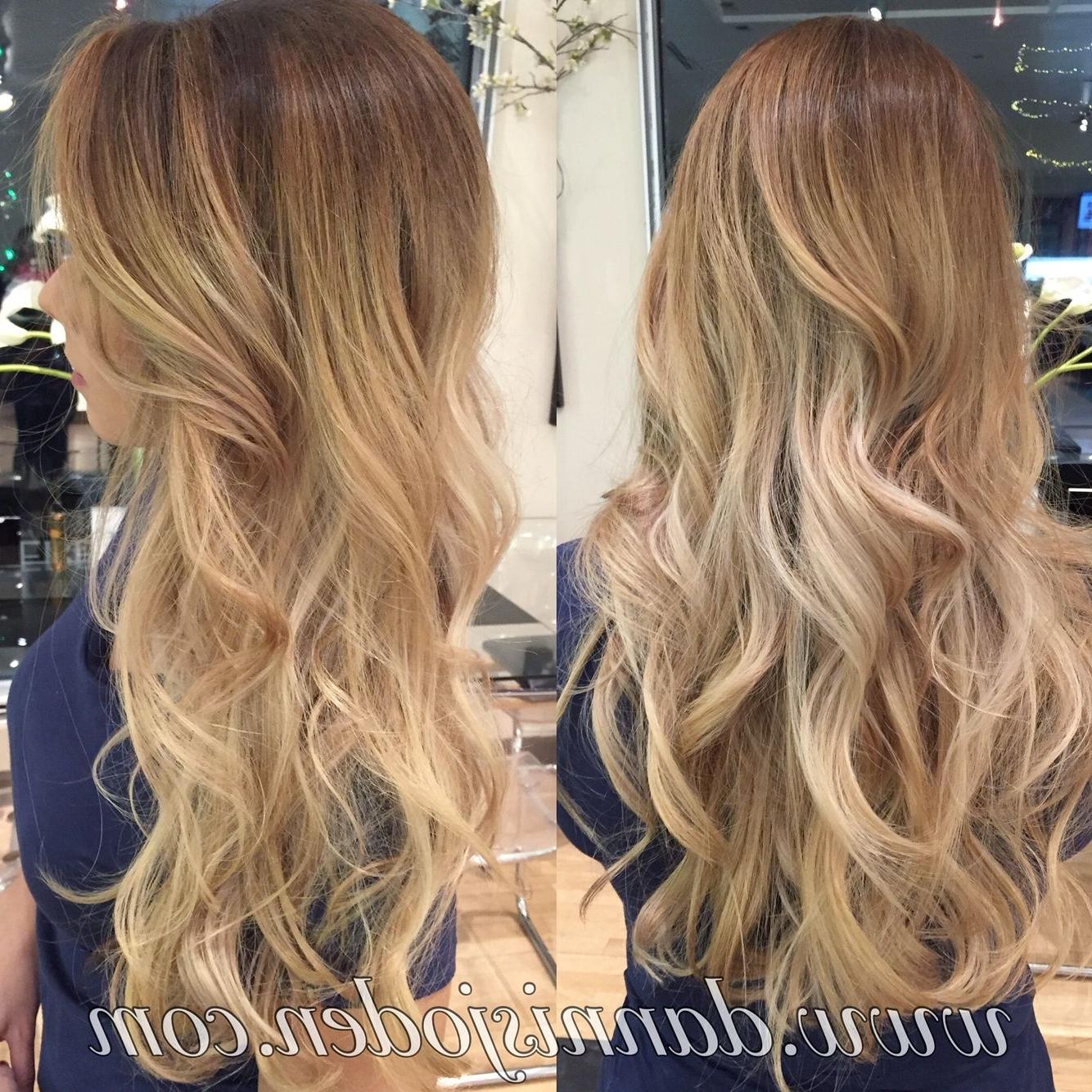 2017 Honey Hued Beach Waves Blonde Hairstyles Inside Bright Honey Blonde Balayage And Beach Waves (View 5 of 20)
