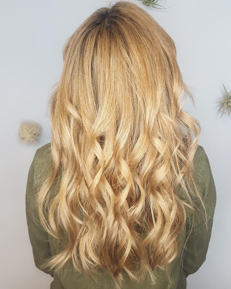 2017 Honey Hued Beach Waves Blonde Hairstyles Intended For 21 Hottest Honey Blonde Hair Color Ideas Of  (View 2 of 20)