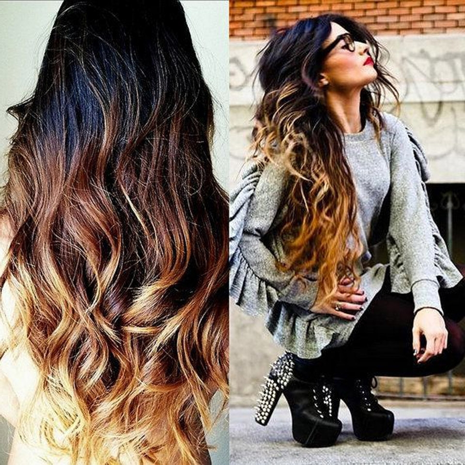 2017 Hot Selling Virgin Human Hair Blonde Ombre Glueless Full Lace Throughout 2018 Blonde Ombre Waves Hairstyles (View 3 of 20)