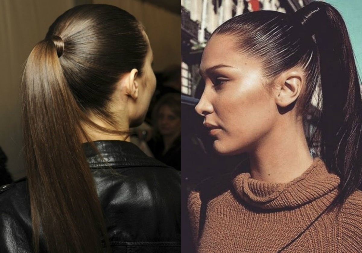 2017 Long And Sleek Black Ponytail Hairstyles Intended For Sleek Ponytail Hairstyles Black Hair Archives (View 2 of 20)
