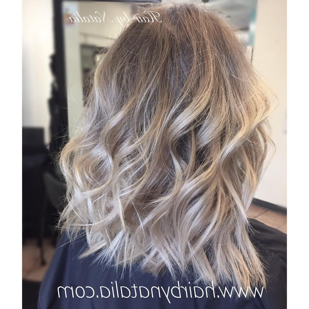 2017 Long Bob Blonde Hairstyles With Babylights Regarding Hairstyle For Women & Man (View 1 of 20)