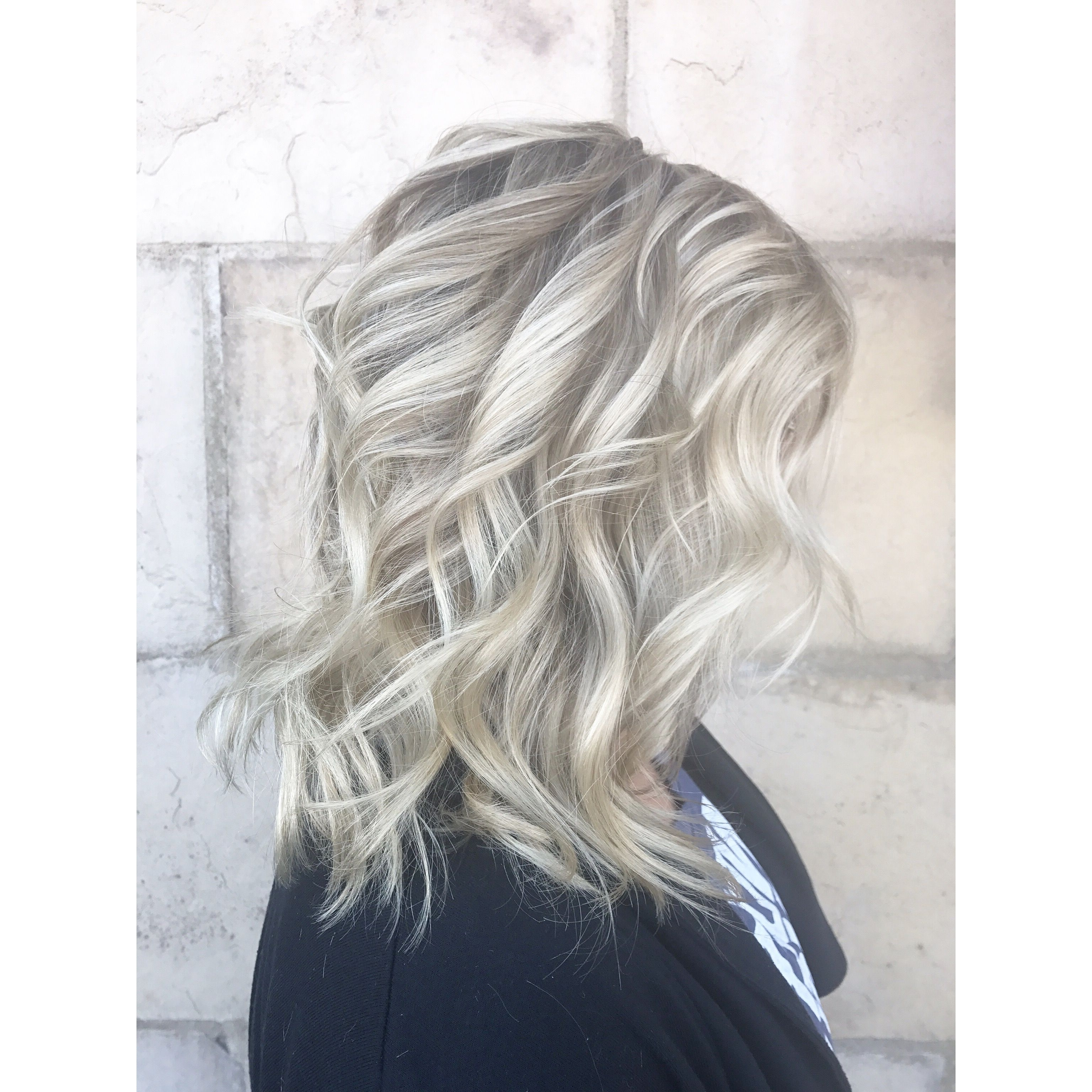 2017 Messy Blonde Lob With Lowlights Within Ashy Blonde With Natural Lowlight. Lob Hair Cut. Blunt Cut (View 2 of 20)