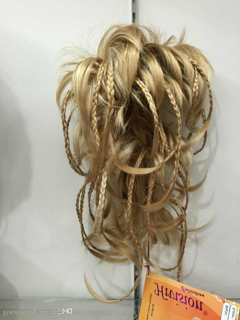 2017 New Fashion Cute Bendable Wire Braid Blonde Clamp Short Regarding Most Popular Full And Fluffy Blonde Ponytail Hairstyles (View 18 of 20)