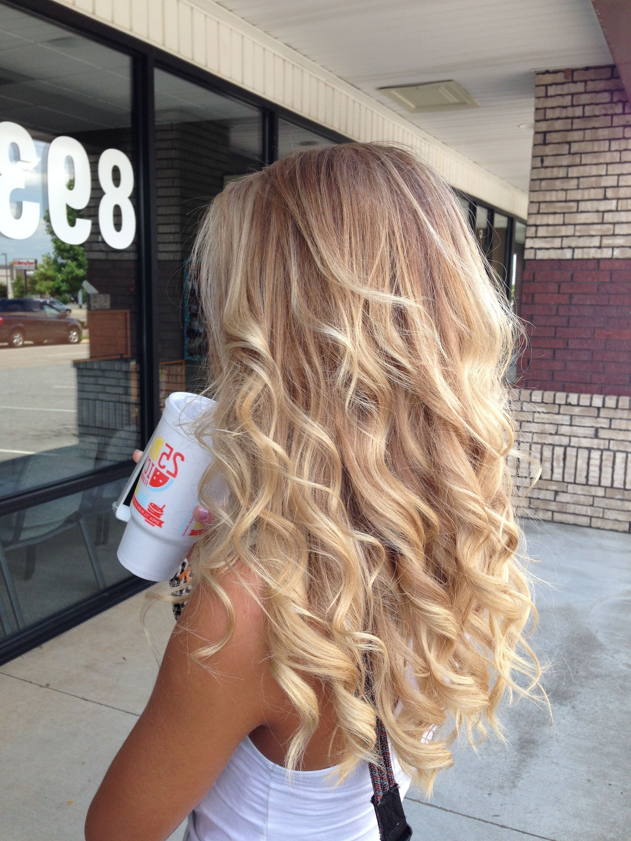 2017 Soft Flaxen Blonde Curls Hairstyles With Regard To Love My New Hair! Balayage Blonde (View 2 of 20)