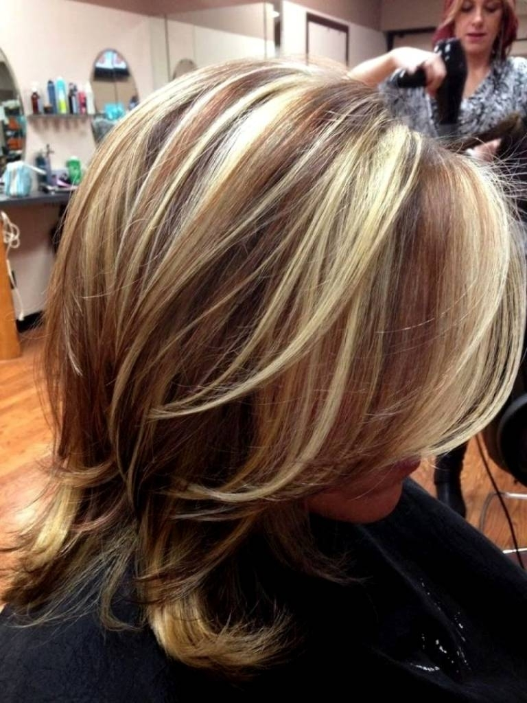 2017 Thin Platinum Highlights Blonde Hairstyles Within Dark Brown Hair With Thin Platinum Highlights – Coolhairstyles (View 1 of 20)
