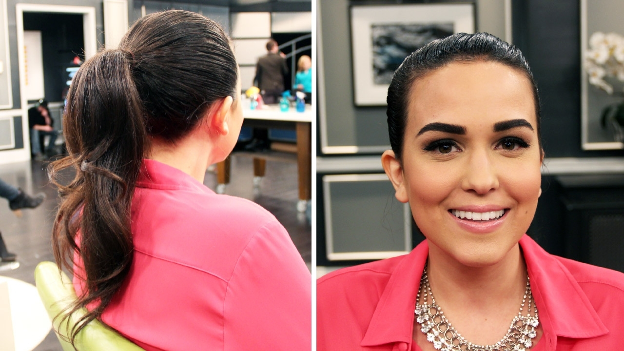 2017 Tight And Sleek Ponytail Hairstyles Within Hairstyle How To: Two Step Updos – Steven And Chris (View 1 of 20)