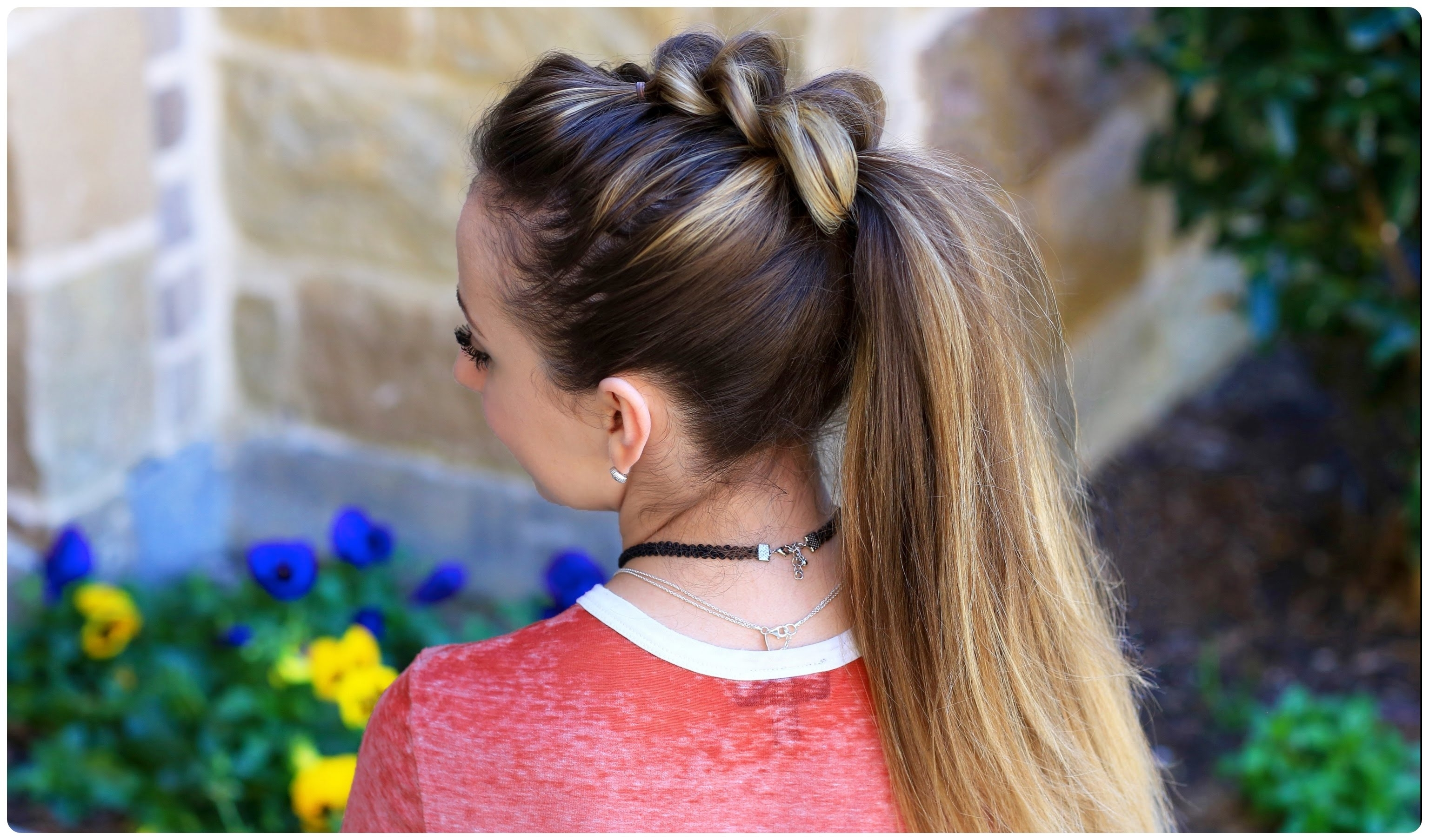 2017 Two Tone High Ponytail Hairstyles With A Fauxhawk In Pull Thru Ponytail (View 14 of 20)