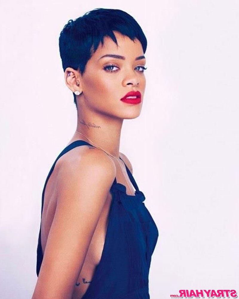 2017 Uneven Undercut Pixie Hairstyles For Rihannas Many Great Short Hairstyles – Strayhair (View 2 of 20)