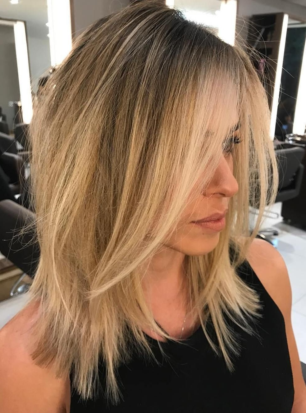 2017 Volumized Caramel Blonde Lob Hairstyles Intended For 70 Devastatingly Cool Haircuts For Thin Hair (View 2 of 20)