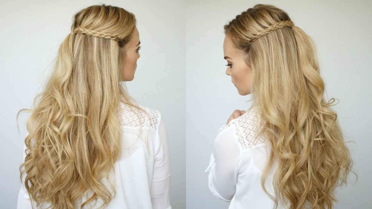 2018 Beachy Half Ponytail Hairstyles For Mini Braids + Beach Waves (View 16 of 20)