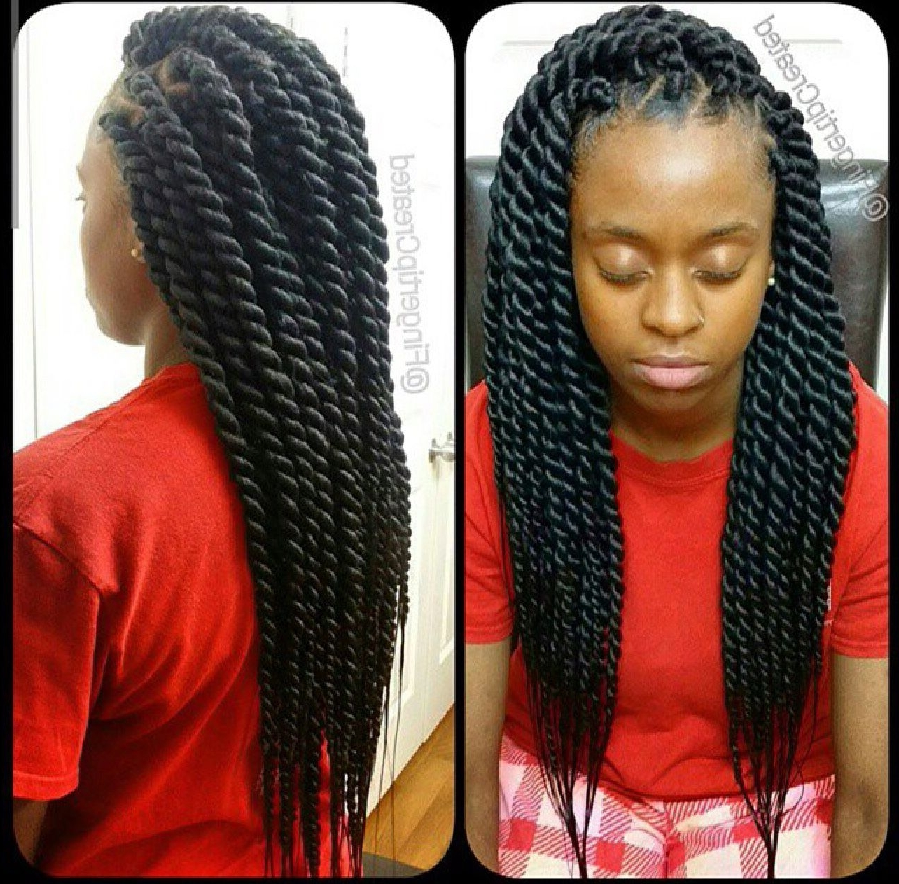 Featured Photo of Black Layered Senegalese Twists Pony Hairstyles