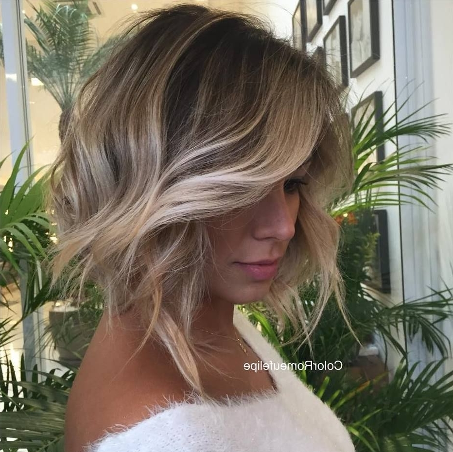 2018 Bronde Bob With Highlighted Bangs For Best Balayage Hair Color Ideas: 70 Flattering Styles For  (View 1 of 20)