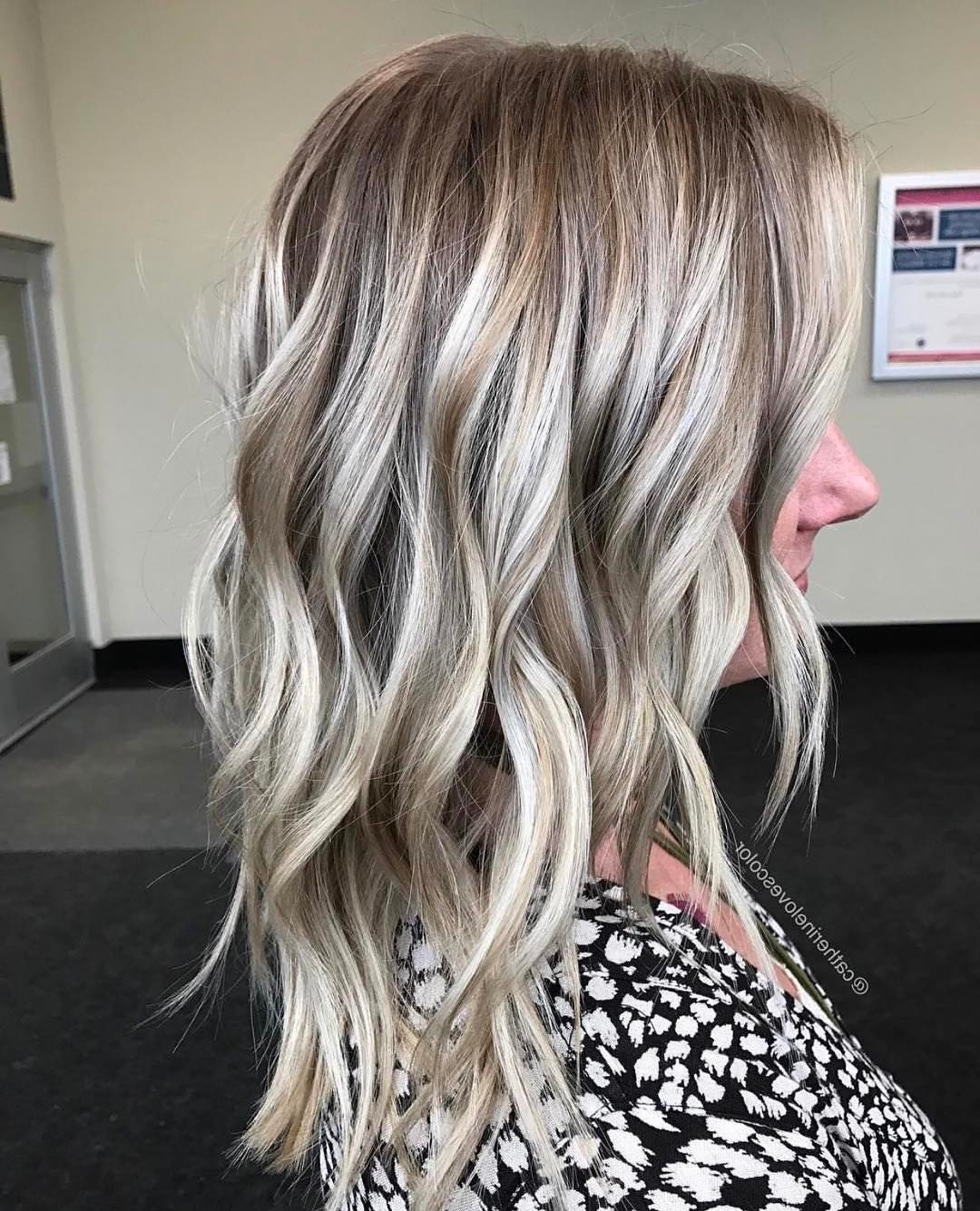 2018 Brown Blonde Balayage Lob Hairstyles Throughout 20 Adorable Ash Blonde Hairstyles To Try: Hair Color Ideas  (View 2 of 20)
