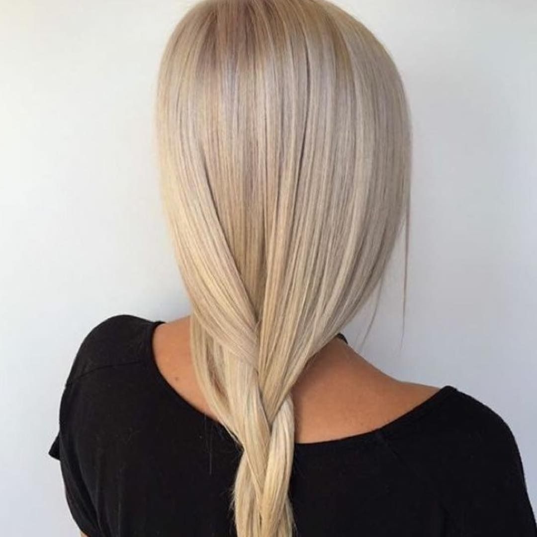 2018 Creamy Blonde Fade Hairstyles Regarding That Dreamy Creamy Blonde! Toned With 20g Lilac + 20g Silver + 4g (View 11 of 20)