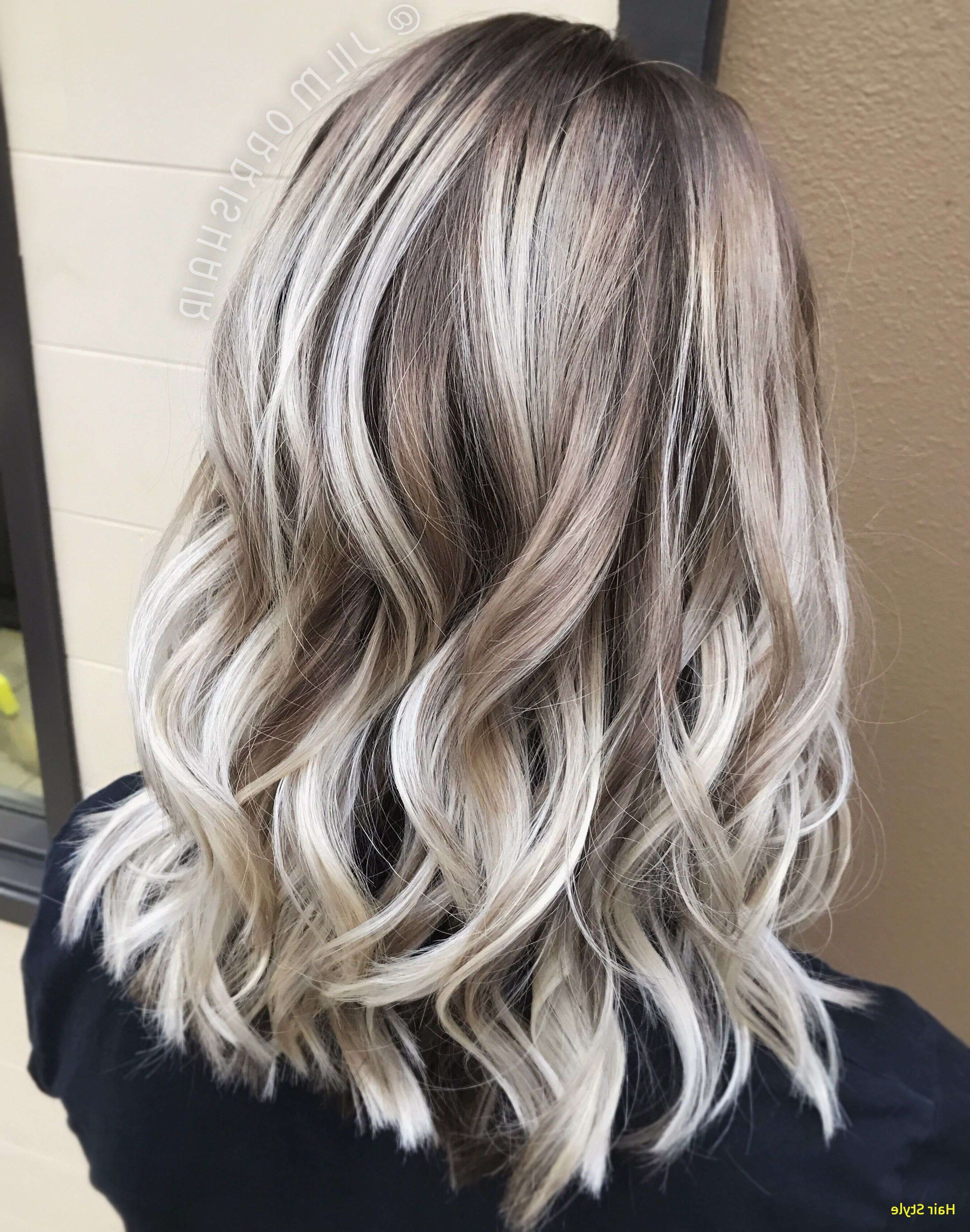 2018 Dirty Blonde Balayage Babylights Hairstyles In Blonde Highlights With Dark Roots New White Ash Blonde Balayage (View 5 of 20)