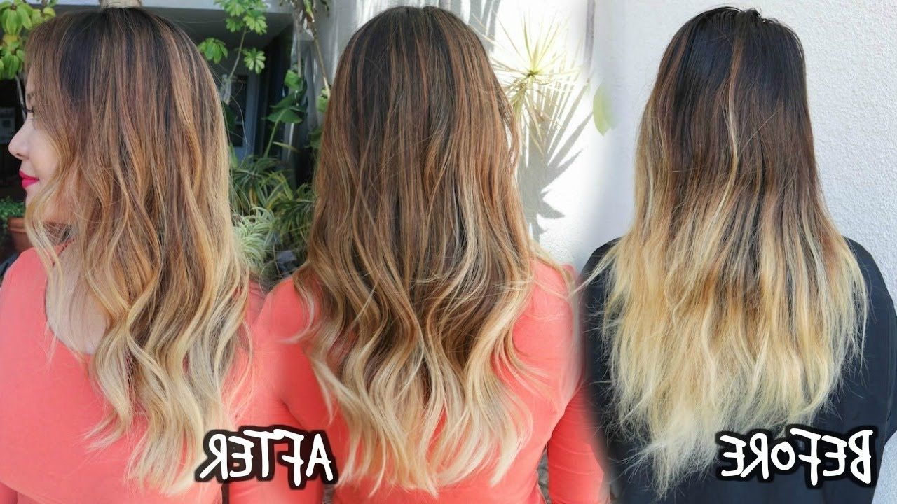 2018 Grown Out Balayage Blonde Hairstyles With Balayage Ombre Color Touch Up – Youtube (View 14 of 20)