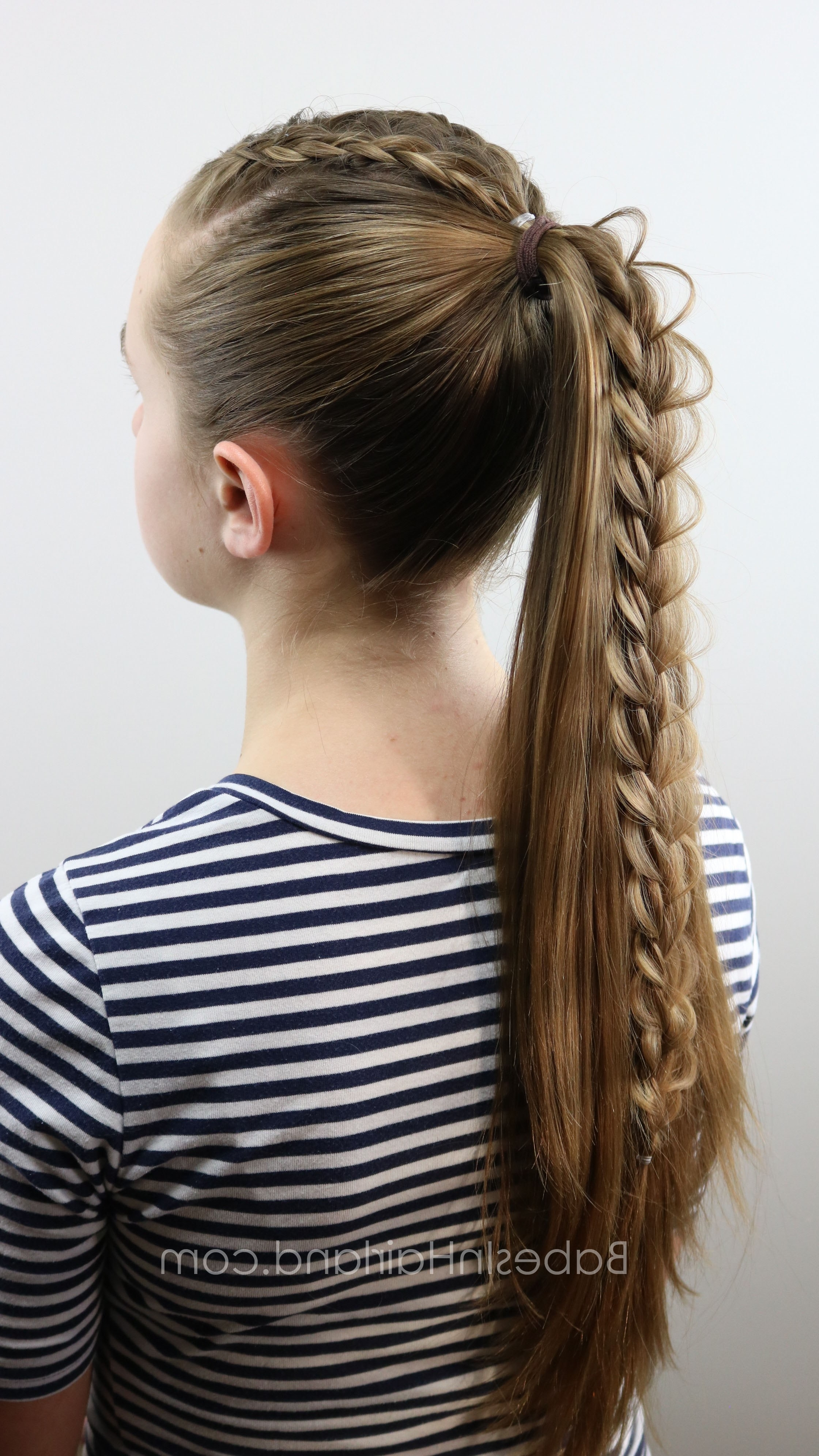 2018 High Braided Pony Hairstyles With Peek A Boo Bangs With Regard To 2 Dutch Braids 5 Different Hairstyles (View 2 of 20)