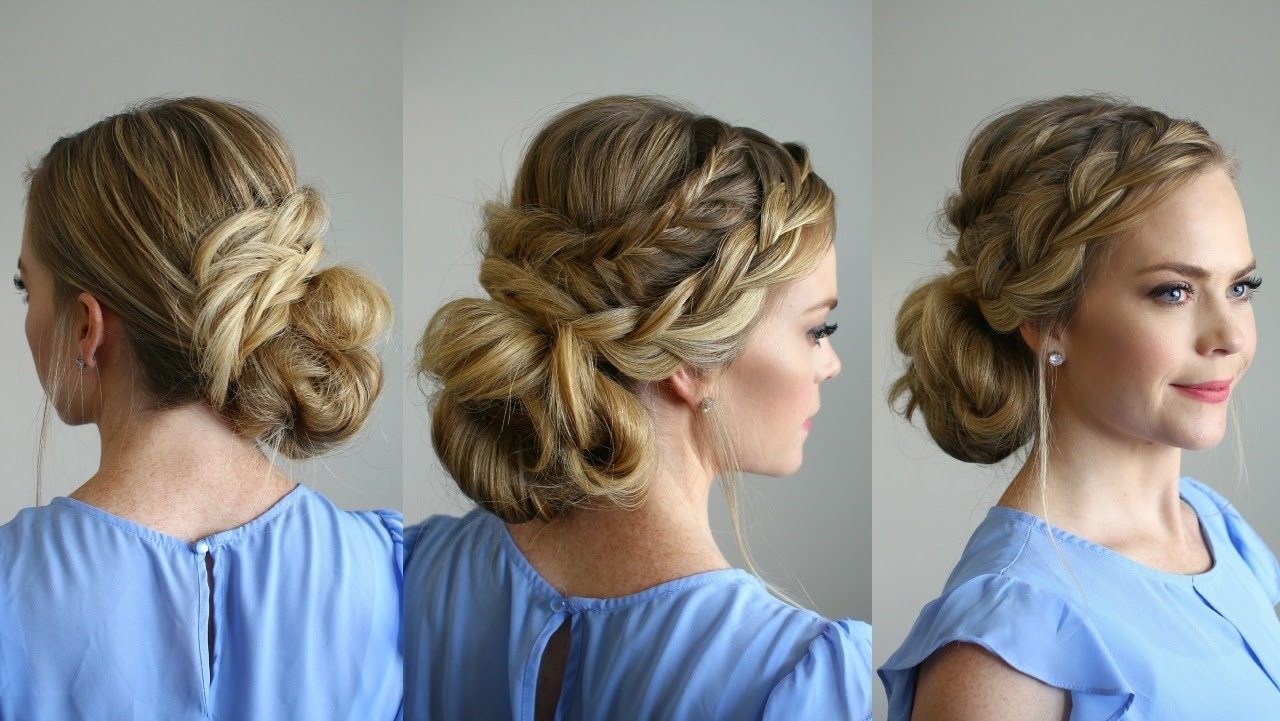 2018 Intricate Updo Ponytail Hairstyles For Highlighted Hair Regarding Trending Homecoming Hairstyles (View 17 of 20)