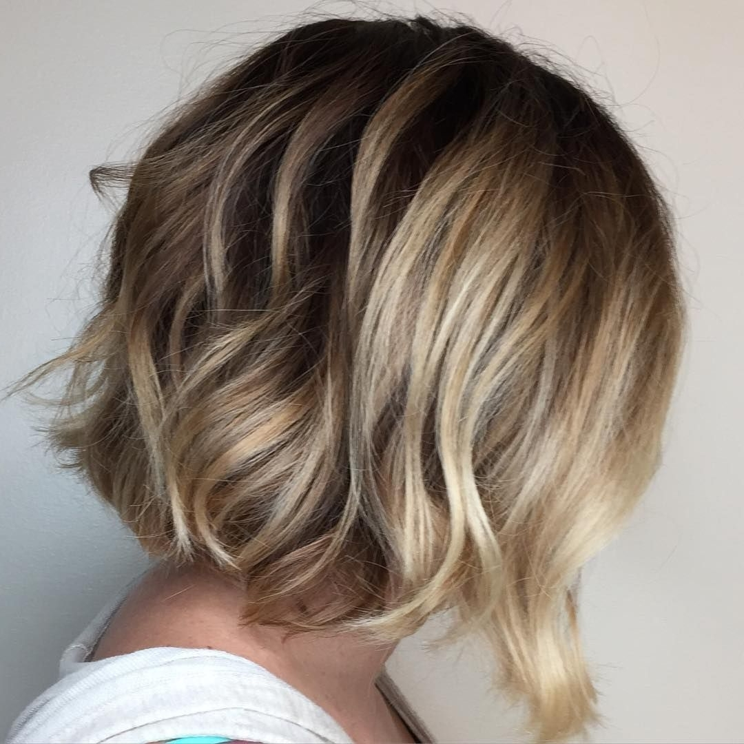 2018 Loosely Coiled Tortoiseshell Blonde Hairstyles Intended For Blonde #balayage #short #soft #undercut #bob #messy #lob #cut #style (View 3 of 20)