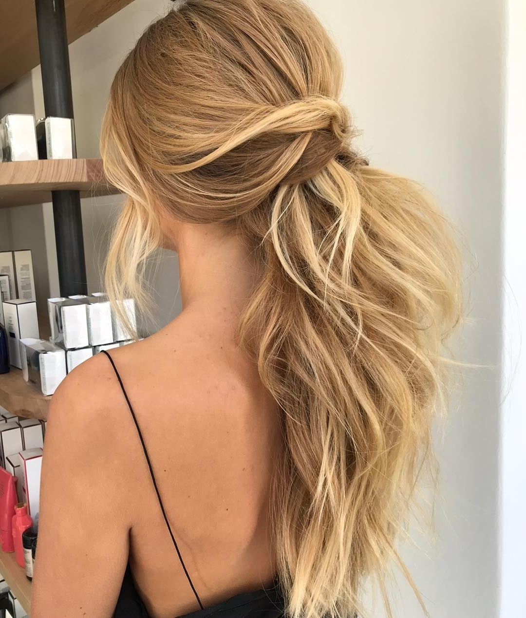 2018 Pony Hairstyles With Textured Braid Intended For Beautiful Textured Ponytail Hairstyle Ideas,ponytail Hairstyles (View 5 of 20)