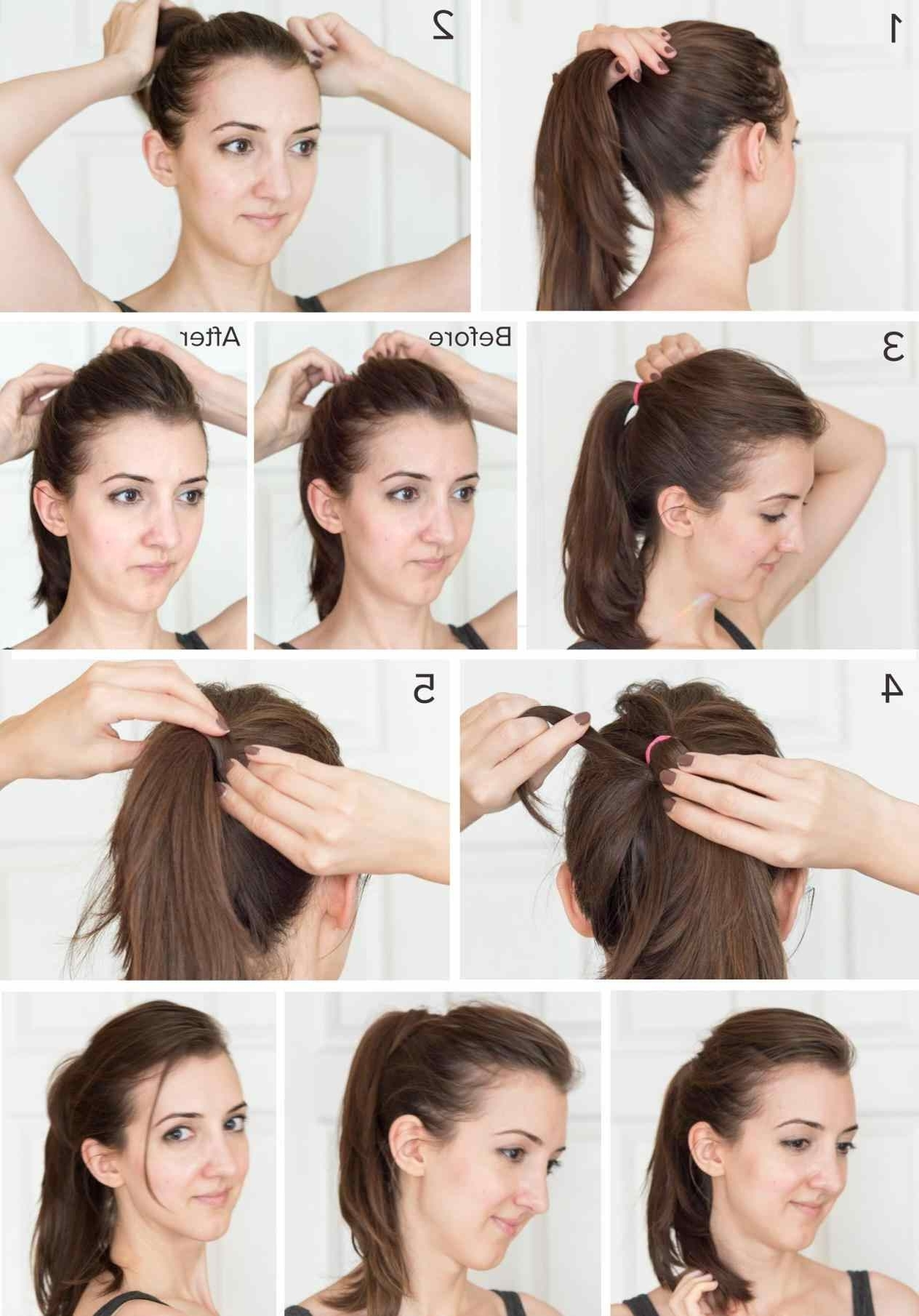 2018 Ponytail Hairstyles With Bump Intended For Ideas High Ponytail Hairstyles Tutorial About Ponytail With A Bump (View 3 of 20)