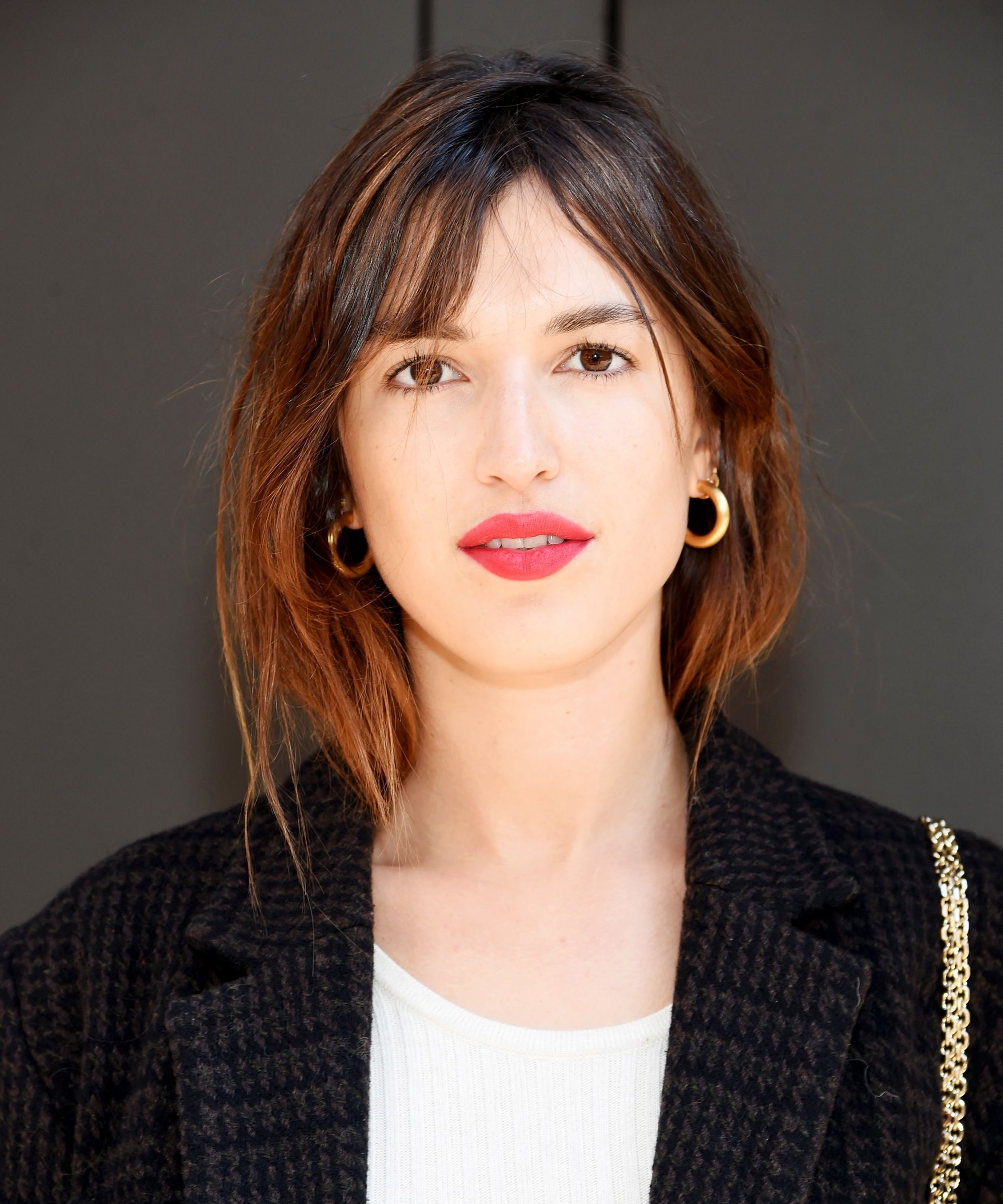 2018 Popular International Hair Trends Haircuts Photos Within Current Weaved Polished Pony Hairstyles With Blunt Bangs (View 13 of 20)