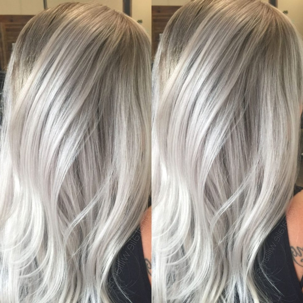 2018 Short Silver Blonde Bob Hairstyles Throughout Hair Color : Silver Blonde Hair Wella Toner For On Natural Balayage (View 4 of 20)