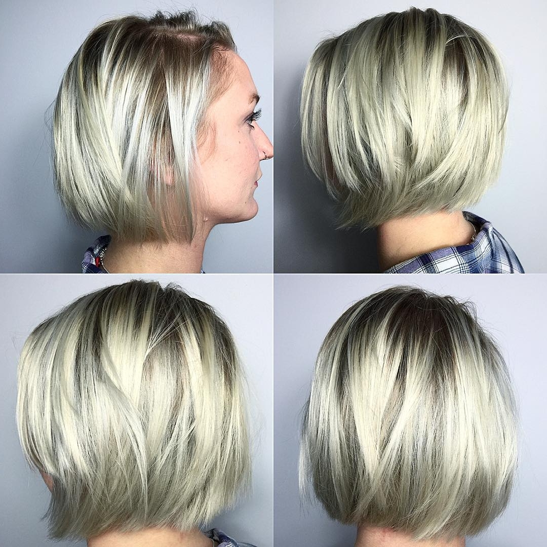 2018 Stacked White Blonde Bob Hairstyles Within 40 Most Flattering Bob Hairstyles For Round Faces 2019 – Hairstyles (View 17 of 20)