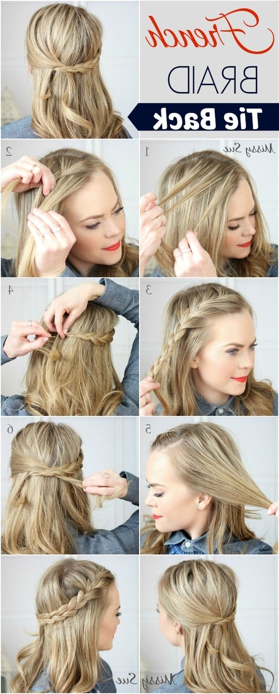 21 Tutorials For Styling Wrap Around Braids – Pretty Designs Regarding Fashionable Pony Hairstyles With Wrap Around Braid For Short Hair (View 6 of 20)