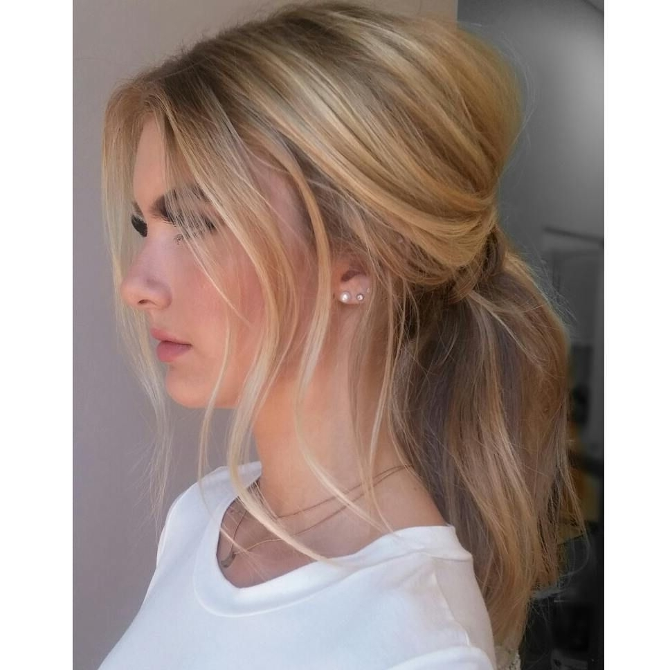 235 Likes, 6 Comments – A L L I S O N P Y N N (@allisonpynn) On Inside Most Up To Date Lustrous Blonde Updo Ponytail Hairstyles (View 2 of 20)