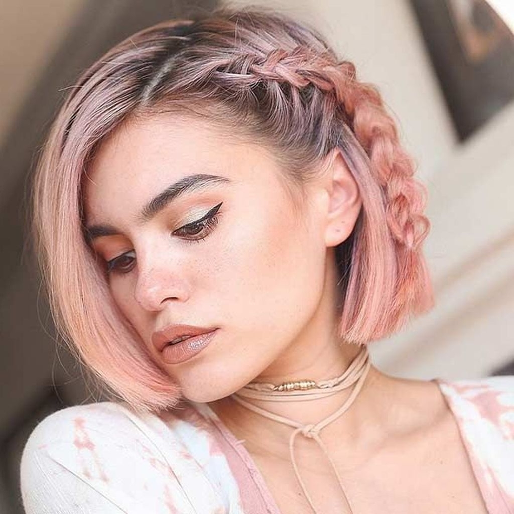 25 Best Colors For Short Haircuts – Let Your Hair Color Speak For Inside Favorite Rose Gold Pixie Hairstyles (View 20 of 20)