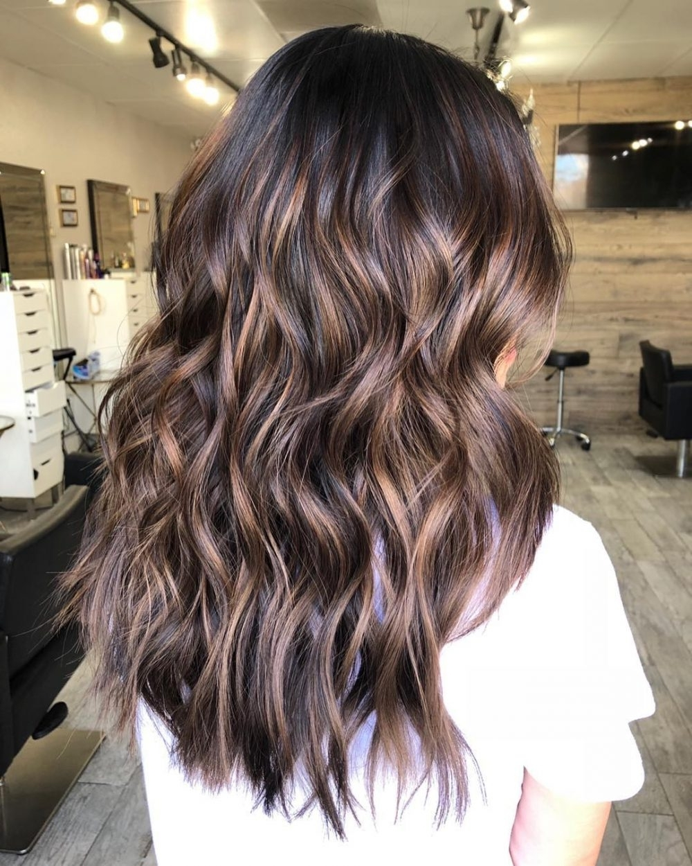 26 Lowlights In 2018 That Will Inspire Your Next Hair Color In Most Recently Released Dark Brown Hair Hairstyles With Silver Blonde Highlights (View 1 of 20)