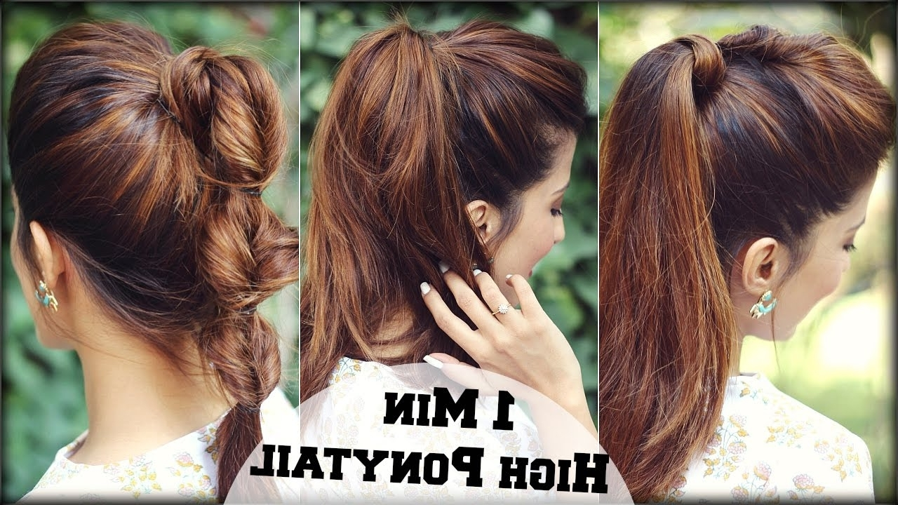 3 Easy Everyday High Ponytail Hairstyles With Puff For School Inside Most Recently Released High Ponytail Hairstyles (View 3 of 20)