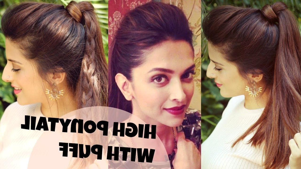 3 Easy Everyday High Ponytail Hairstyles With Puff For School Throughout Fashionable High Ponytail Hairstyles (View 11 of 20)