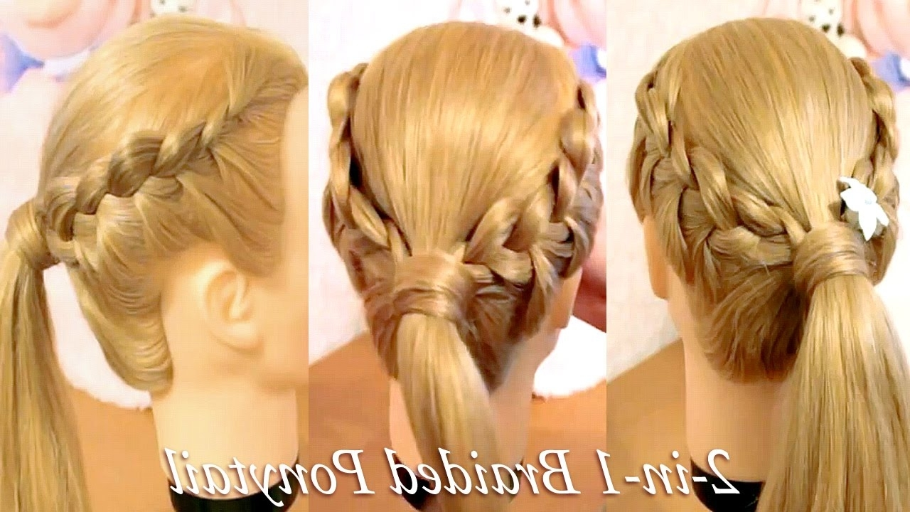3 French Braiding Hairstyles For College & Party – Youtube Pertaining To Most Up To Date Three Braids To One Ponytail Hairstyles (View 16 of 20)