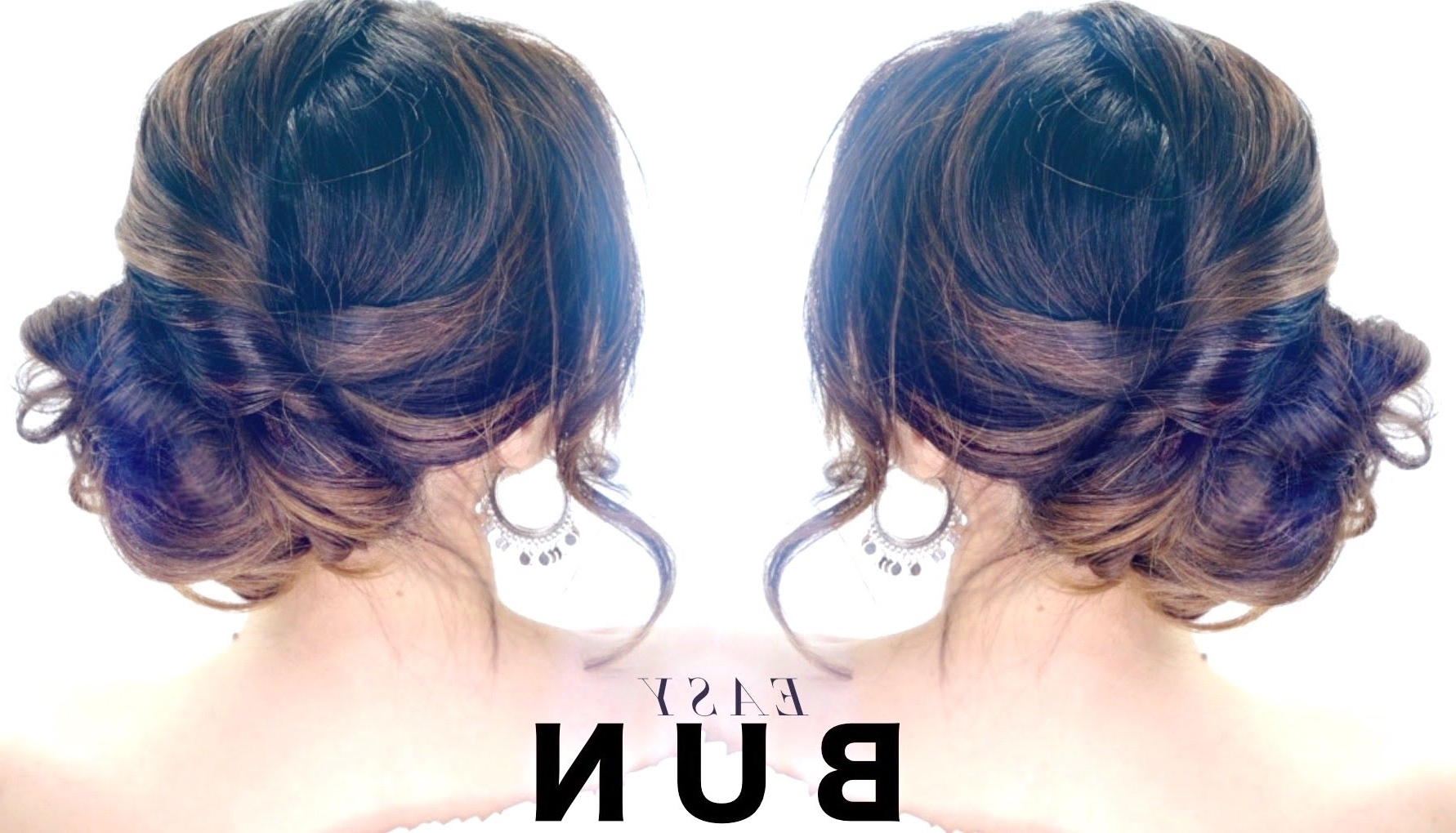 3 Minute Elegant Side Bun Hairstyle ☆ Easy Summer Updo Hairstyles Throughout Trendy Simple Side Messy Ponytail Hairstyles (View 4 of 20)