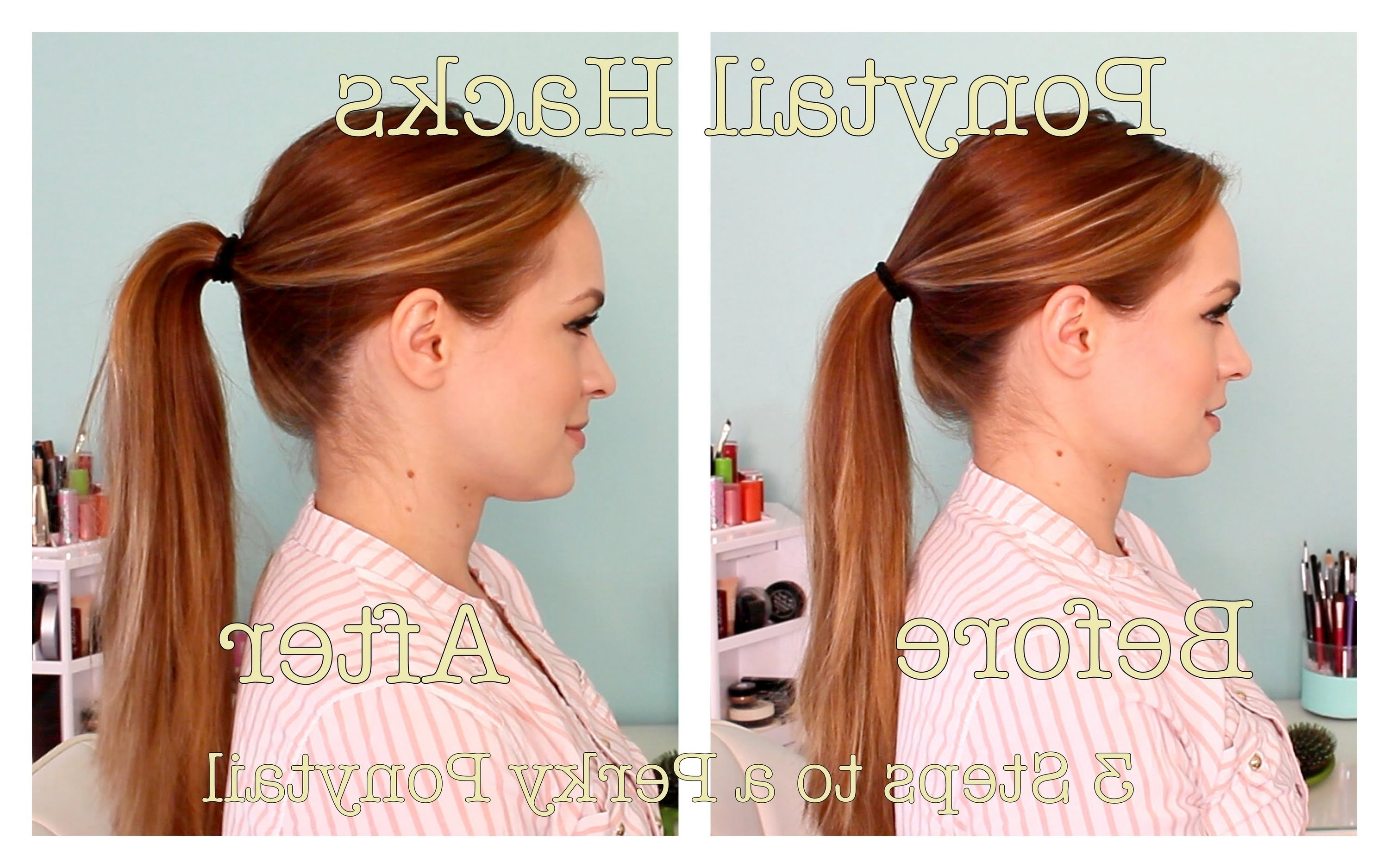 3 Ways To Get A Perky Ponytail! – Youtube In 2017 Poofy Ponytail Hairstyles With Bump (View 13 of 20)