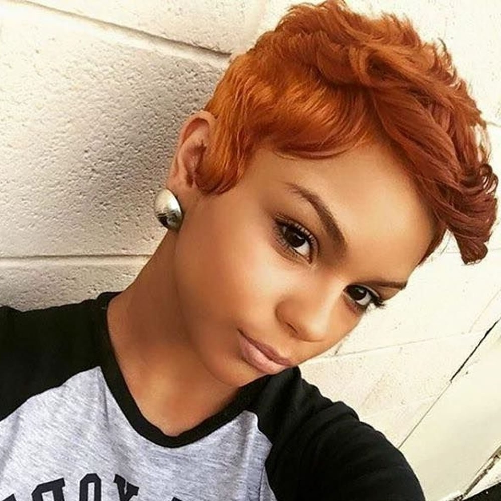 30 Beautiful Short Hairstyles For Women Of Color ~ Louis Palace With Regard To 2017 Ravishing Red Pixie Hairstyles (View 5 of 20)